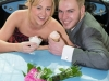 Telford Shopping Centre Wedding Event. Ben Folger of Dawley. Terrie Turton of Madeley.