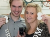 Ben Folger, from Dawley, and Terrie Turton, from Madeley, prepare for the Wedding Expo at Telford Shopping Centre between the 31st Jan and 3rd Feb.
