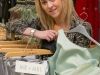 Terrie Turton, from Madeley, prepares for the Wedding Expo at Telford Shopping Centre between the 31st Jan and 3rd Feb.
